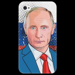 "Чехол для iPhone 4/4S ""Владимир Путин"" - владимир путин, путин, россия, putin, рф"