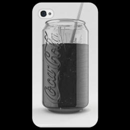 """Чехол для iPhone 4/4S """"Кока-кола"""" - серый, напиток, coca-cola, кока-кола, кола"""