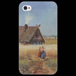 """Чехол для iPhone 4/4S """"Кутузовская изба"""" - картина, саврасов"""