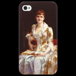 """Чехол для iPhone 4/4S """"Портрет молодой леди"""" - картина, кабанель"""