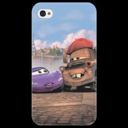 """Чехол для iPhone 4/4S """"Тачки"""" - мультфильм, дисней, машина, тачки, молния"""