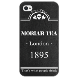 "Чехол для iPhone 4/4S ""Moriar tea That's what people drink. "" - сериал, 2014, чай, sherlock, moriarty, мориарти, holmes, шерлок"