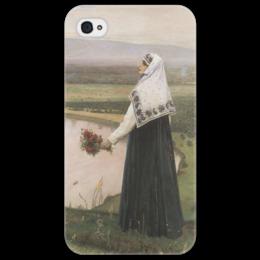 "Чехол для iPhone 4/4S ""На горах"" - картина, нестеров"