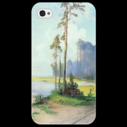 """Чехол для iPhone 4/4S """"Летний пейзаж. Сосны."""" - картина, саврасов"""