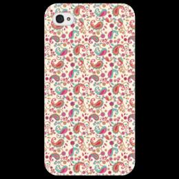 """Чехол для iPhone 4/4S """"Пейсли (Яркий)"""" - пейсли, узор, цветок, цветы, лепестки"""