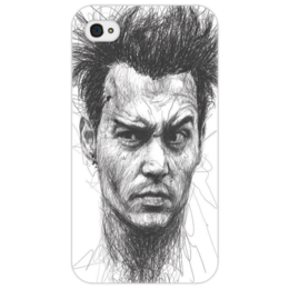 "Чехол для iPhone 4/4S ""Johnny"" - арт, рисунок, оригинально, креативно, johnny depp"