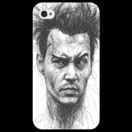 """Чехол для iPhone 4/4S """"Johnny"""" - арт, рисунок, оригинально, креативно, johnny depp"""