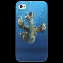 """Чехол для iPhone 4/4S """"Ледниковый период (Сид под водой)"""" - ледниковый период, ice age, сид, ленивец, под водой"""