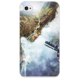"Чехол для iPhone 4/4S ""Человек против природы"" - earth, земля, home, planet"