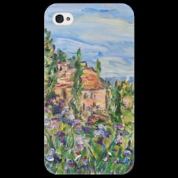 """Чехол для iPhone 4/4S """"Тоскана"""" - италия, ирисы, пейзаж, кипарисы, тоскана"""