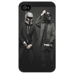 "Чехол для iPhone 4/4S ""Funny Boba & Vader"" - приколы, star wars, darth vader, boba fett, звёздные войны, skywalker"