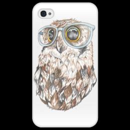 "Чехол для iPhone 4/4S ""Совенок"" - сова, знания"