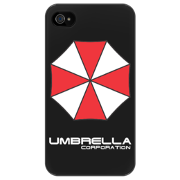 "Чехол для iPhone 4/4S "" Umbrella Corporation "" - стиль, оригинально, corporation, resident evil, umbrella, raccoon"