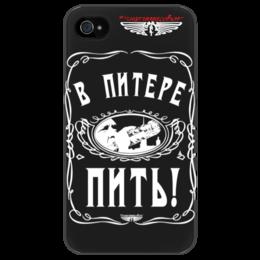 "Чехол для iPhone 4/4S ""В Питере - пить!"" - шнуров, jack daniels, ленинград, шнур, лабутены"