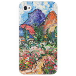 """Чехол для iPhone 4/4S """"Счастье"""" - любовь, весна, красота, горы, цветочки"""