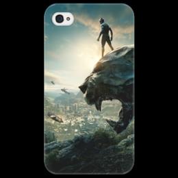 """Чехол для iPhone 4/4S """"Чёрная пантера"""" - marvel, black panther, черная пантера, марвел, мстители"""
