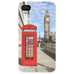 "Чехол для iPhone 4/4S ""London"" - london, лондон, англия, uk, телефонная будка, telephone booth"