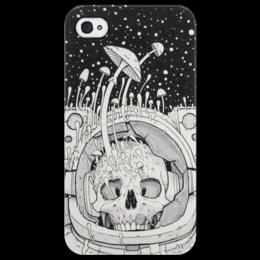 "Чехол для iPhone 4/4S ""Космос"" - skull, череп, space, космос, грибы, mushrooms"