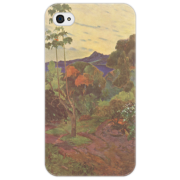 """Чехол для iPhone 4/4S """"Тропические растения"""" - картина, поль гоген"""