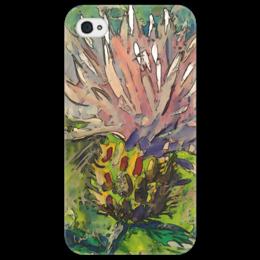 """Чехол для iPhone 4/4S """"Василёк"""" - цветок, рисунок, цветное, природа, василёк"""