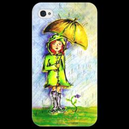 """Чехол для iPhone 4/4S """"Дождик, дождик, уходи!"""" - дети, детское, ручная работа, детский рисунок, детская работа"""
