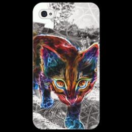 """Чехол для iPhone 4/4S """"Котик"""" - кот, cat, котик, color"""
