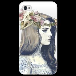"""Чехол для iPhone 4/4S """"Art девушка"""" - прикольно, арт, приколы, популярные, прикольные, в подарок, оригинально, креативно"""