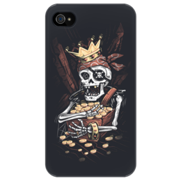 "Чехол для iPhone 4/4S ""Пират"" - skull, череп, арт, pirate, gold, treasure"