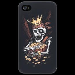 "Чехол для iPhone 4/4S ""Пират"" - skull, череп, арт, pirate, gold, treasure"