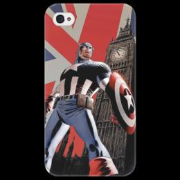 "Чехол для iPhone 4/4S ""Капитан Америка"" - комиксы, капитан америка"