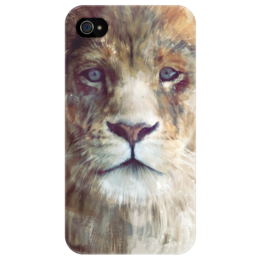 "Чехол для iPhone 4/4S ""Царь зверей"" - арт, king, лев, lion, swag, leo"