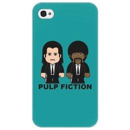 """Чехол для iPhone 4/4S """"Pulp Fiction"""" - культовое кино, тарантино, сэмюэл лерой джексон, джон траволта, криминальное чтиво"""