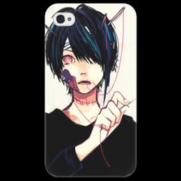 """Чехол для iPhone 4/4S """"Anime kun"""" - парень, аниме, anime, красные глаза, чёлка"""