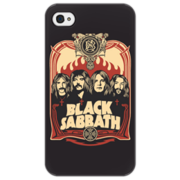 "Чехол для iPhone 4/4S ""Black Sabbath"" - music, metal, rock, hard rock, black sabbath, блэк сэббет, оззи осборн, muzic, paranoid, war pigs"