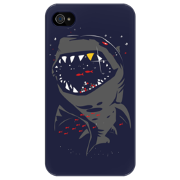 "Чехол для iPhone 4/4S ""Акула"" - арт, fish, ocean, shark"