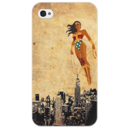 "Чехол для iPhone 4/4S ""wonder woman"" - dc, чудо-женщина, wonder woman, бэтмен против супермена, лига справедливости"