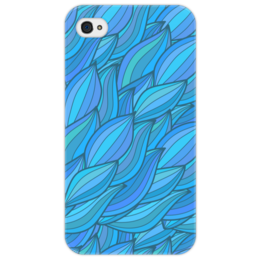 "Чехол для iPhone 4/4S ""Волны"" - арт, узор, волны, дудл"