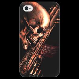 "Чехол для iPhone 4/4S ""ДО КОНЦА!!!"" - skull, череп, weapon, автомат, ак"