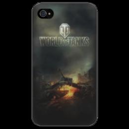 """Чехол для iPhone 4/4S """"World Of Tanks"""" - в подарок, оригинально, парню"""