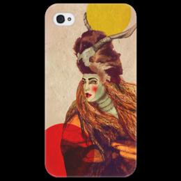 """Чехол для iPhone 4/4S """"Dear fawn (II)"""" - арт, популярные, в подарок, графика, оригинально, девушке, иллюстрация, этника"""