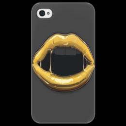 """Чехол для iPhone 4/4S """"Art девушка"""" - в подарок, оригинально"""