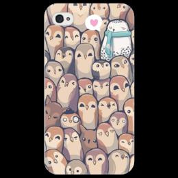 """Чехол для iPhone 4/4S """"owls and owls"""" - смешные, оригинально"""