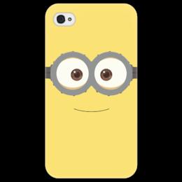 """Чехол для iPhone 4/4S """"Миньон"""" - iphone, очки, желтый, гадкий, чехол, миньон, гадкий я, despicable me, minion, despicable"""