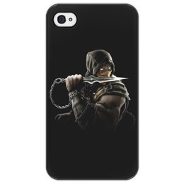 "Чехол для iPhone 4/4S ""Mortal Kombat (Scorpion)"" - scorpion, mortal kombat, скорпион, боец, воин"