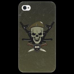 """Чехол для iPhone 4/4S """"ВВ!!!"""" - сила, ножи, вв, внутренние войска, оливковый берет"""