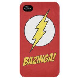 "Чехол для iPhone 4/4S ""BAZINGA!"" - арт, bazinga, бугагашенька, sheldon cooper, the big bang theory, теория большого взрыва, комедия, шелдон купер"