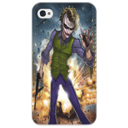 "Чехол для iPhone 4/4S ""joker"" - dc, dark knight, джокер"