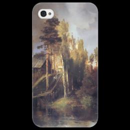 """Чехол для iPhone 4/4S """"Монастырские ворота"""" - картина, саврасов"""
