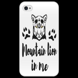 "Чехол для iPhone 4/4S ""Mountain lion in me"" - лев, lion, tiger, пума, mountain lion in me"