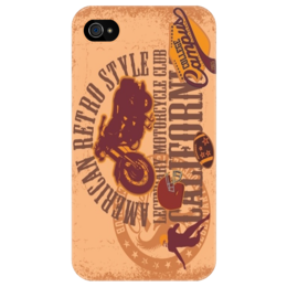 "Чехол для iPhone 4/4S ""American Retro Style"" - ретро, мотоцикл, motorcycle, калифорния, american, harley"